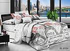 Постільна білизна бязь двоспальний комплект розмір 175х215 см малюнок Париж, фото 4