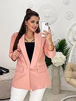 Модный женский пиджак (жакет) застегивается на пуговицу ткань креп костюмка размеры 42,44,46,48,50,52,54