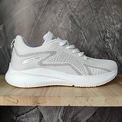 Женские летние кроссовки на каждый день текстильные белые