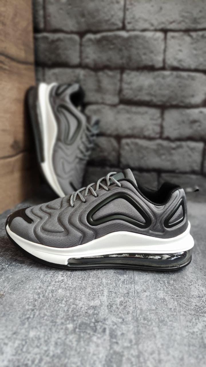 Спортивні чоловічі кросівки текстильні на піні сірого кольору