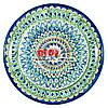 Ляган (узбецька тарілка) 37х4см для подачі плову керамічний (ручна розпис) (варіант 18)