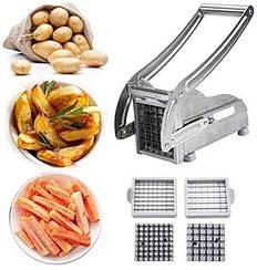 Картофелерезка для нарізання картоплі фрі Potato Chipper Professional, SIlver