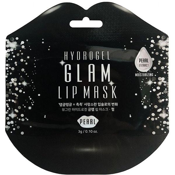 Патчи для губ Beauugreen с экстрактом жемчуг Hydrogel Glam Lip Mask Pearl