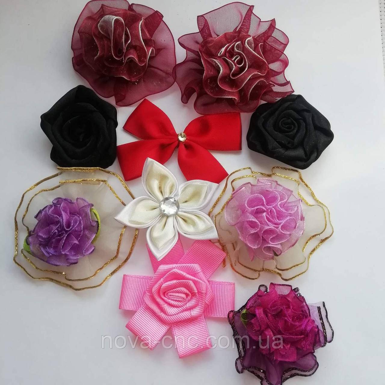 Квіти для декору Мікс 35 мм, 50 мм 10 шт