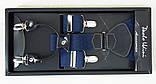 Підтяжки чоловічі сині Paolo Udini, фото 3