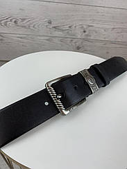 Мужской черный ремень Lacoste из натуральной кожи классический