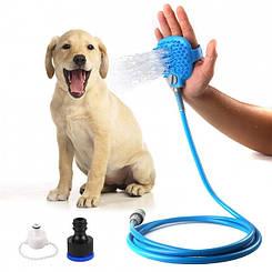 Рукавиця для миття тварин Pet Bathing Tool щітка-душ