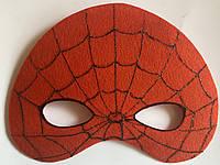 Карнавальная маска из фетра Человек Паук