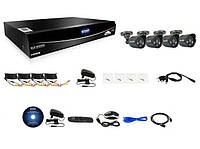 Комплект для видеонаблюдения KGUARD EL821-4HW 212B