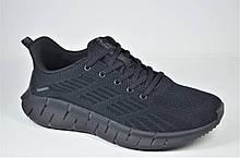 Мужские модные кроссовки сетка черные Supo 2205 - 1