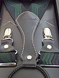 Підтяжки чоловічі Paolo Udini чорно-зелені, фото 4