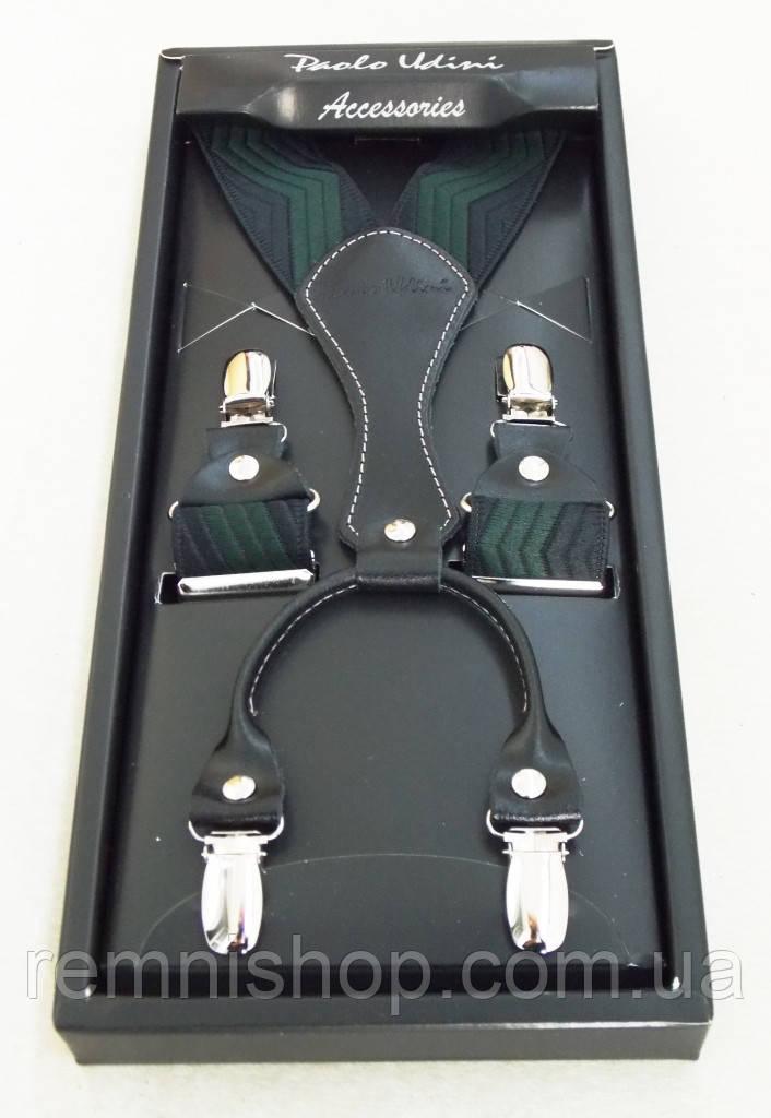 Підтяжки чоловічі Paolo Udini чорно-зелені