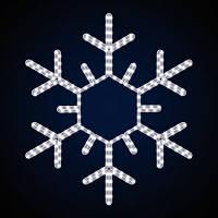 Светодиодная фигура снежинка LUMIERE 0.8*0.8 м