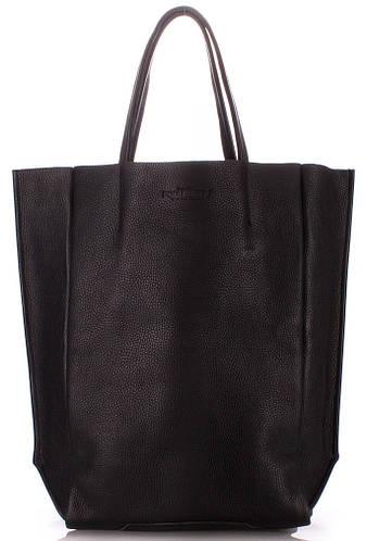 Вертикальная женская кожаная сумка POOLPARTY SOHO poolparty-bigsoho-black черный