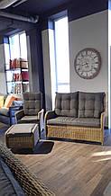 Комплект садовой мебели   ADELLE Small из дивана, кресла и пуфа