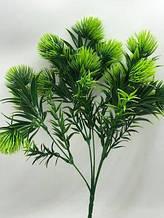 №1  Репей зеленый  декоративный высота ножки 34 см на стебле 5 веточек