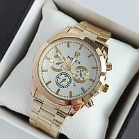 Мужские наручные часы Rolex (ролекс), золотые с белым циферблатом, хронографы, дата - код 1955
