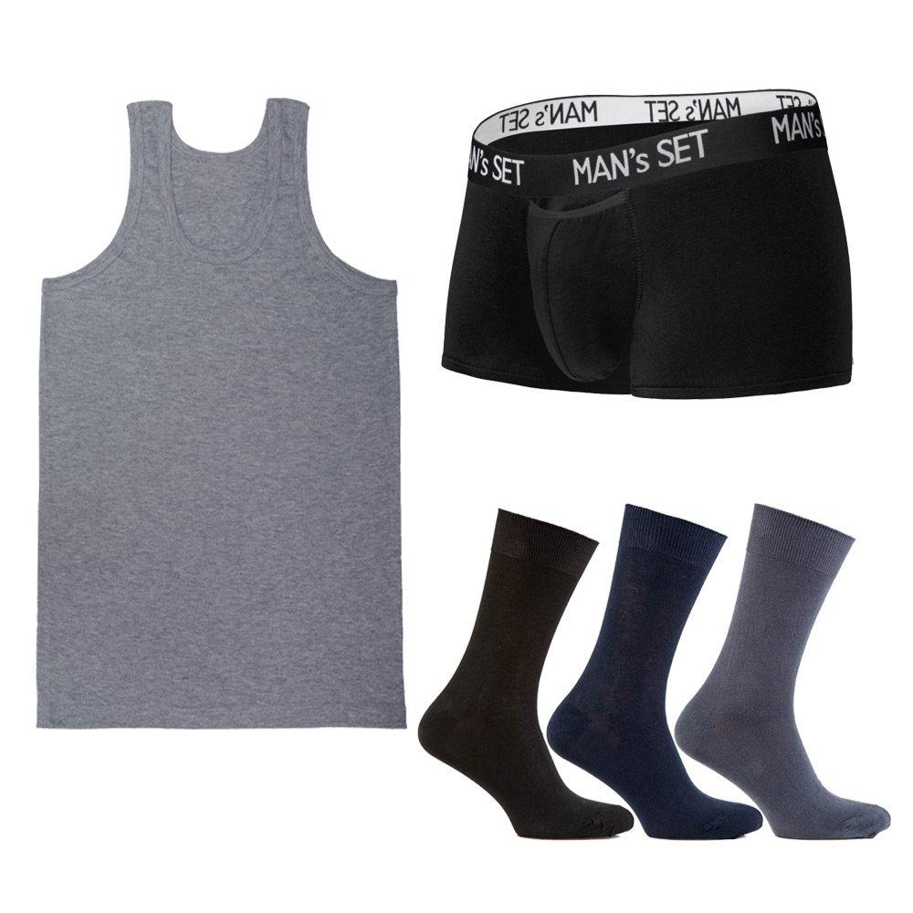 Комплект анатомических боксеров Modern, майки и носков SHIRT SET Medium