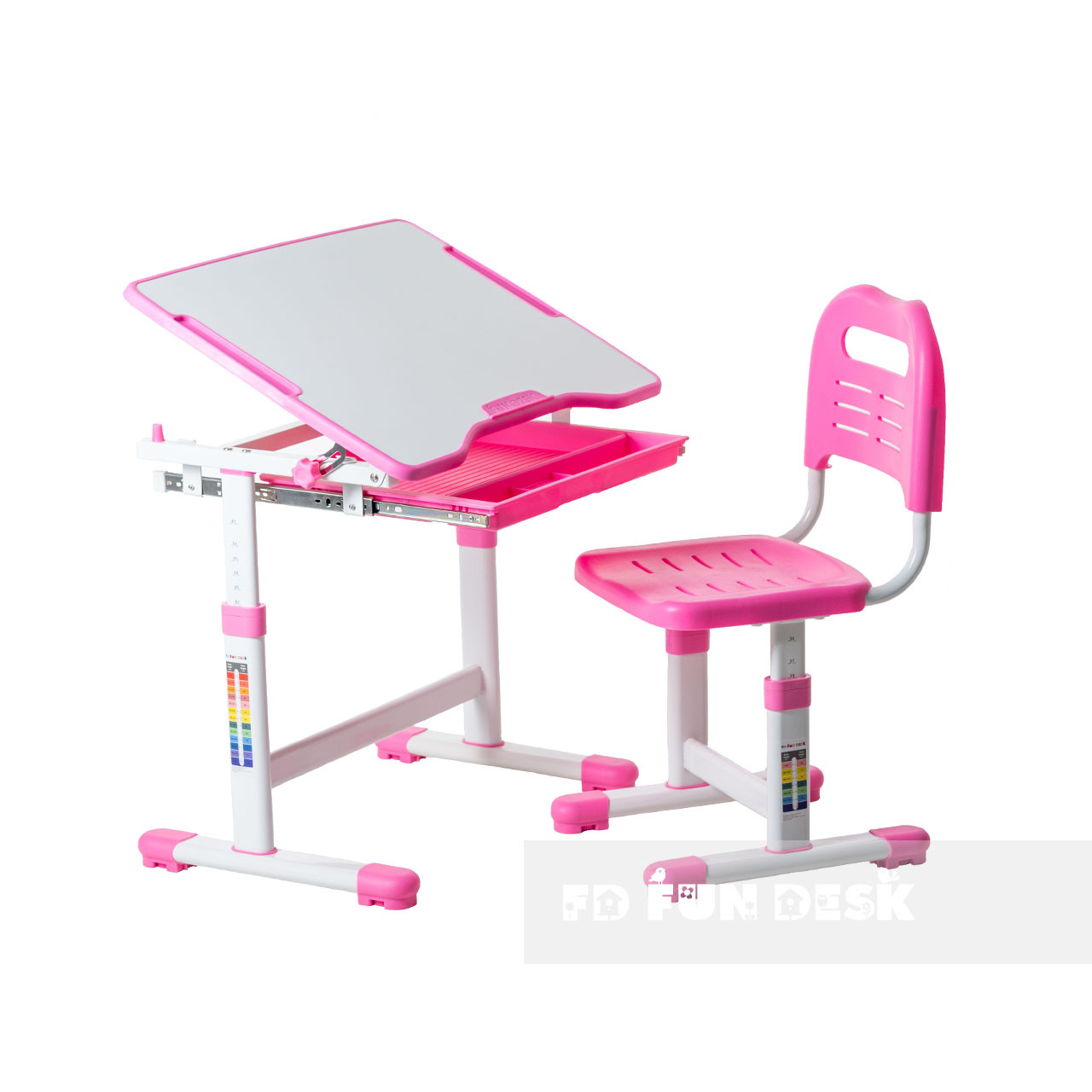 Індивідуальний комплект парта та стілець-трансформери FunDesk Sole Pink