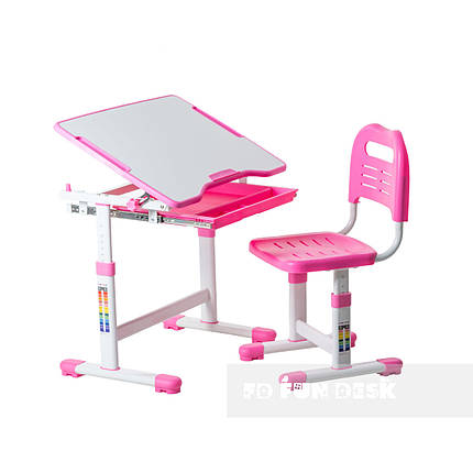 Індивідуальний комплект парта та стілець-трансформери FunDesk Sole Pink, фото 2