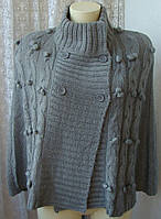 Кофта женская пончо вязаное зимнее теплое бренд F&F р.46-48 4489
