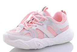 Детские розовые кроссовки, размеры 32-37, замеры в описании