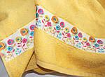 ТМ TAG Полотенце махровое Весна желтое 50х90, фото 3