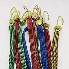 Резинка багажная с крючками  2 м х 20 мм (10 шт/упак) цветная плоская, фото 3