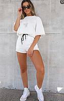 Женский прогулочный костюм футболка и шорты