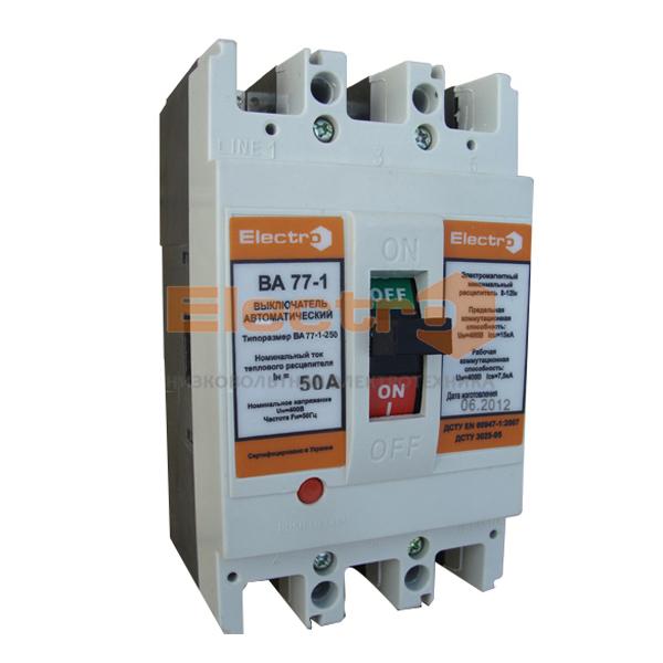 Автоматический выключатель ВА 77-1-125 3P 380В