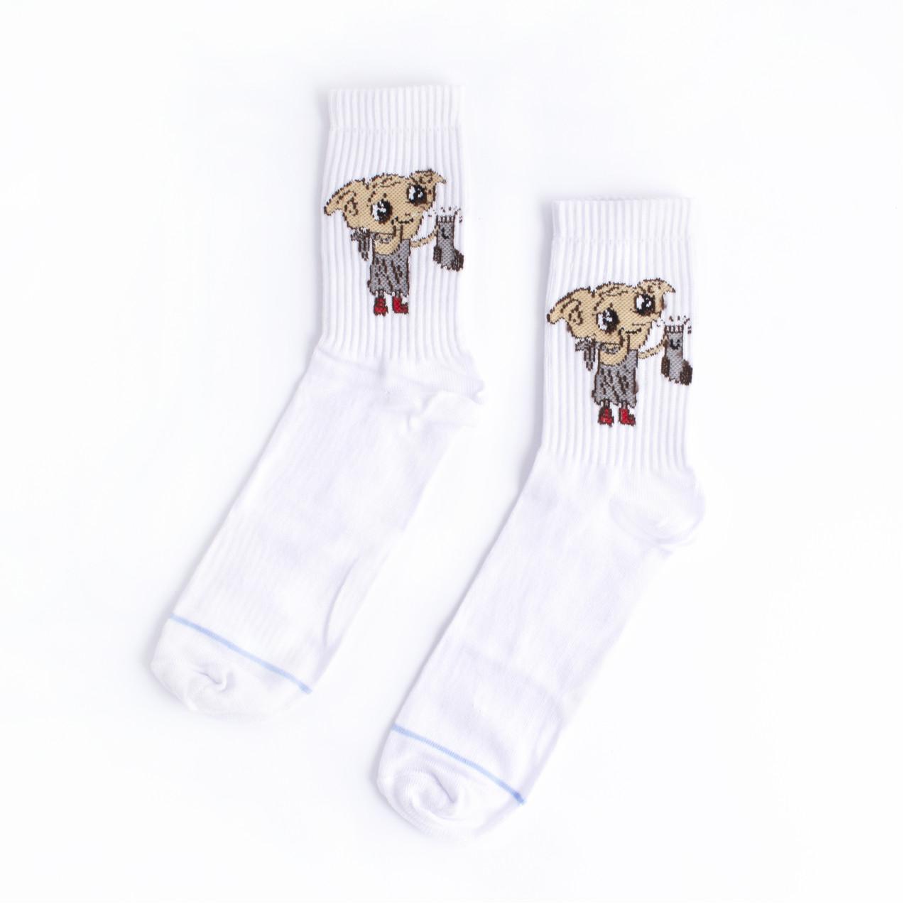 """Шкарпетки з принтом Білі """"Добі"""""""