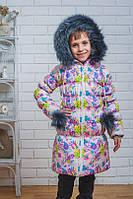 Зимняя длинная куртка для девочки, фото 1