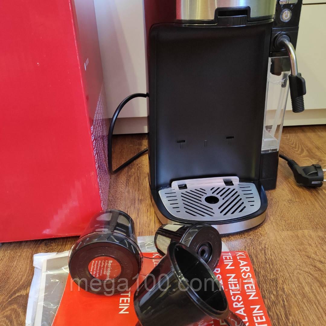 Кофеварка, кофемашина, кофейный аппарат Klarstein Baristomat 2 в 1 витринный вариант