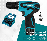 Шуруповерт аккумуляторный MAKITA DF330DWE (12V/2 А/час) | Дрель-шуруповерт Макита в кейсе автономный