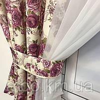 Занавеска из шифона для зала спальни кухни, занавеска для дома квартиры офиса, занавески для спальни зала, фото 3