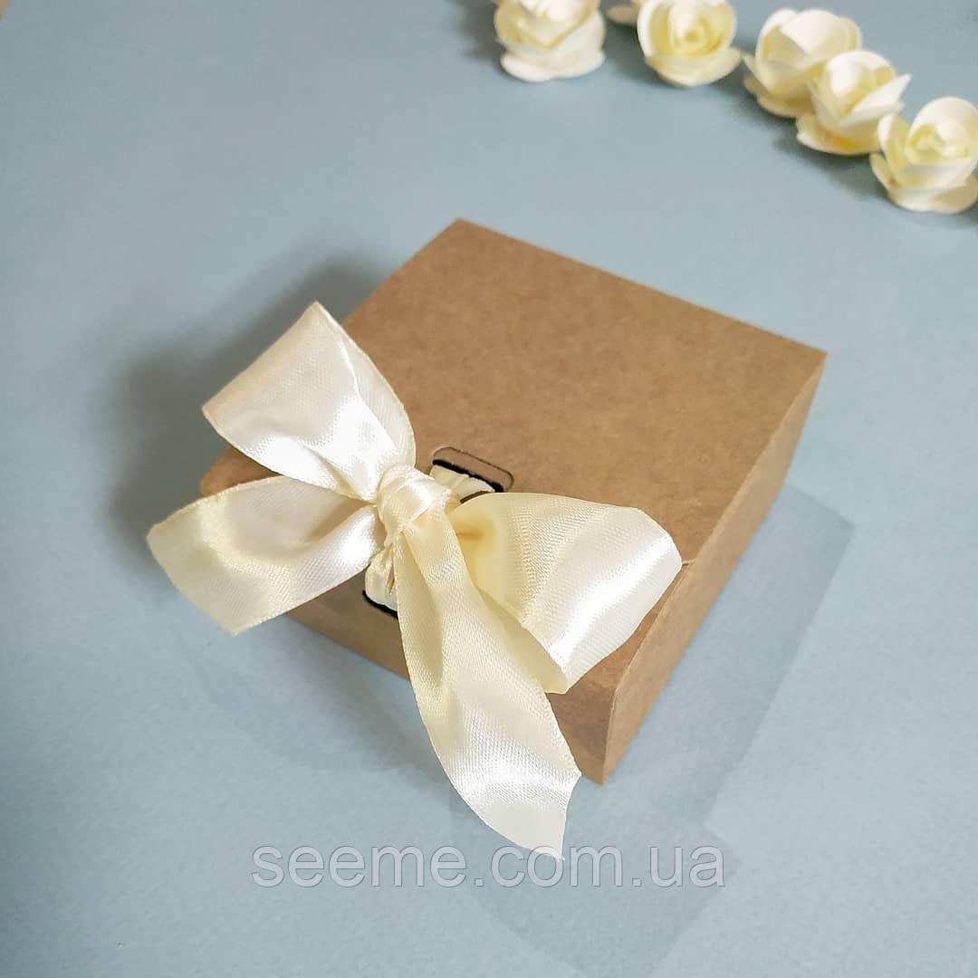 Коробка подарункова із крафт картону, 80х80х35 мм