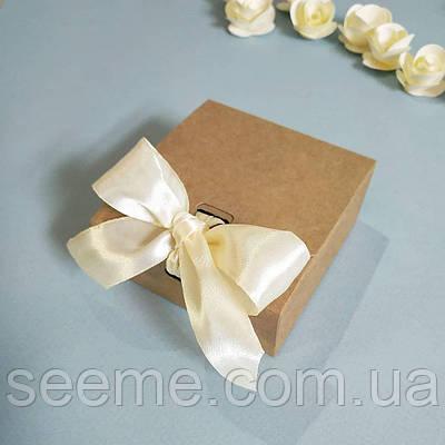 Коробка подарочная из крафт картона, 80х80х35 мм