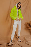 Модний жіночий весняно-осінній короткий пуховик Bubble яскраво-жовтий