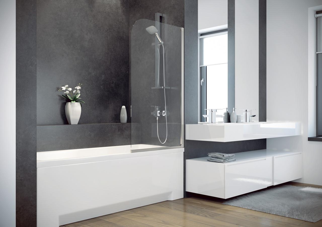 Шторка для ванн Besco PMD Ambition - 1S  прозрачная 75x130
