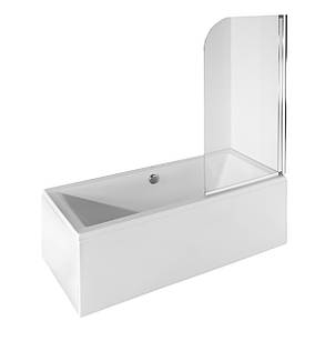 Шторка для ванн Besco PMD Ambition - 1S  прозрачная 75x130, фото 2