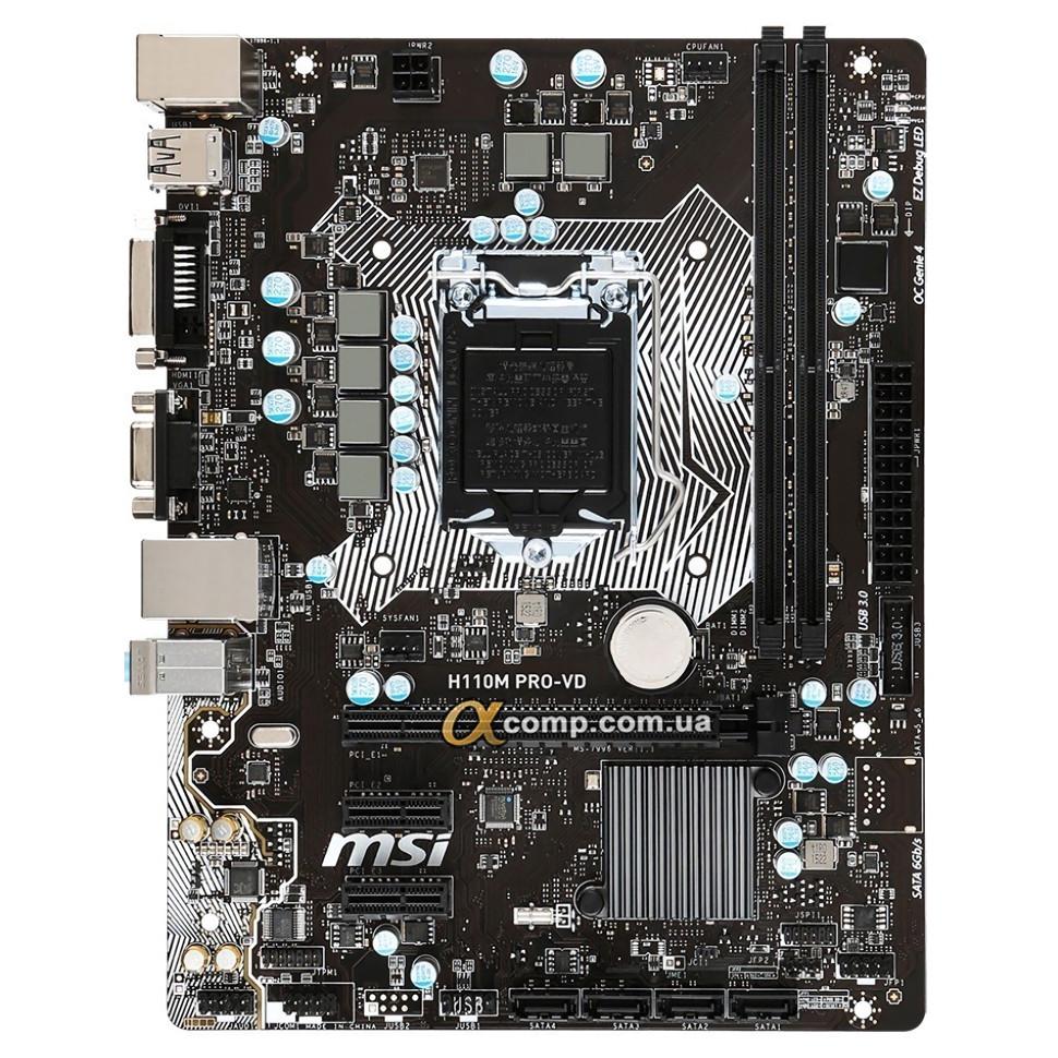 Материнська плата MSI H110M PRO-VD (s1151/H110/2xDDR4)