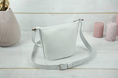 "Сумка женская. Кожаная сумочка ""Эллис"", Кожа Флотар, цвет Белый"
