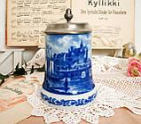 Пивной бокал, немецкая кружка для пива, керамика, оловянная крышка, Германия, 1978 год, Berlin Design, фото 2