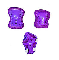 Комплект детской защиты 3-в-1 (на колени, локти и ладони) Sport Series. Фиолетовая