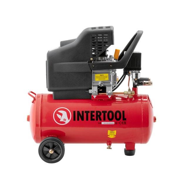 Компресор 24 л, 1.5 кВт, 220 В, 8 атм, 206 л/хв. INTERTOOL PT-0009