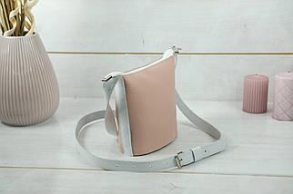 "Сумка женская. Кожаная сумочка ""Эллис"", Кожа Флотар, цвет Пудра, фото 2"