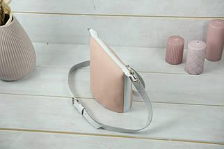 "Сумка женская. Кожаная сумочка ""Эллис"", Кожа Флотар, цвет Пудра, фото 3"