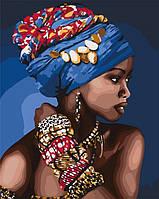 Набор акриловая живопись Восточная красота Картина по номерам 40х50 см Идейка Люди холст портрет KHO4661