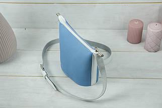 """Сумка жіноча. Шкіряна сумочка """"Елліс"""", Шкіра Флотар, колір Синий, фото 3"""