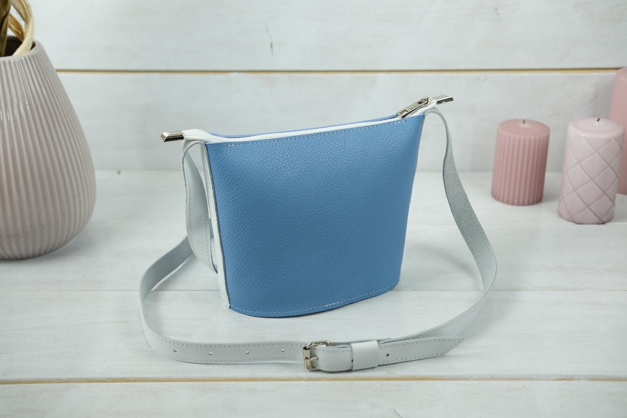 """Сумка жіноча. Шкіряна сумочка """"Елліс"""", Шкіра Флотар, колір Синий"""